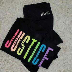 Justice Leggings 2 Pair Size 12 Girls